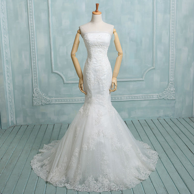 2014 new best selling sheath appliques bridal gowns for Where to sell a wedding dress