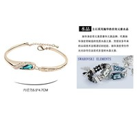 к 2015 году матери день подарков! Розовое золото покрытием кристалл браслет, сделанные с кристалами SWAROVSKI