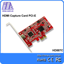 Factory direct sales HDMI PCIE Video Capture Card 1080P 30Hz blue-ray with HDMI1.4 port Video Grabber PCI-E support HDCP