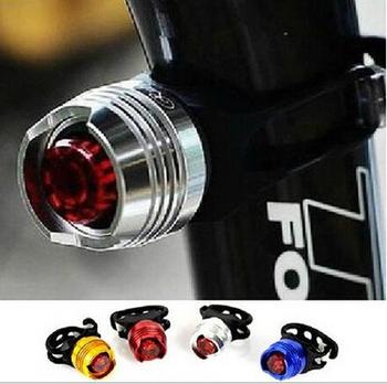 Водонепроницаемый LED Велосипед Велоспорт Передние Задние Хвост Шлем Красный Вспышка Света Безопасности Предупреждение Лампа Велоспорт Безопасности Свет T43