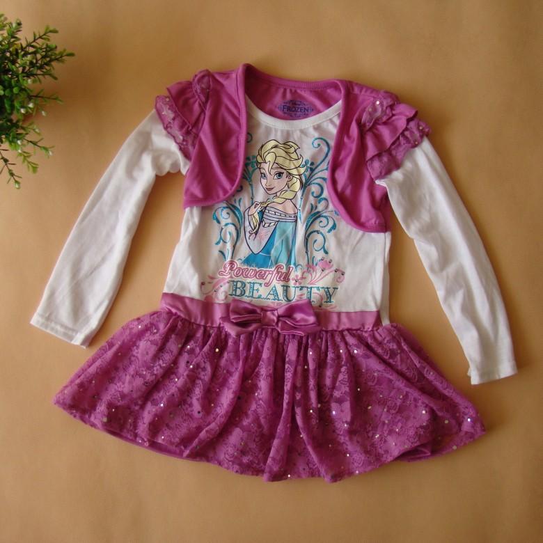 original brand, 6 pieces/lot 2-6x girls snow princess dress,elsa long-sleeved one piece dress for autumn lace tutu dress<br><br>Aliexpress