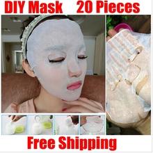 Brand new 20 pz/pacco cura della pelle del viso maschera facciale in fibra di carta diy compressa maschera di carta asciutto bellezza(China (Mainland))