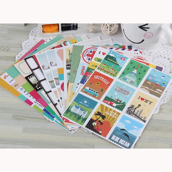 Stickers et autocollants pour le scrapbooking, la customisation et pour