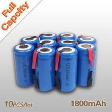 10Pcs / Lot 1.2V 1800mAh Sub C SC NI-CD NI CD Rechargeable Battery Batteries
