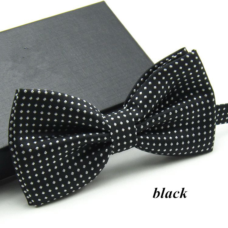 Brand New Fashion Butterfly Gravata Party Bowtie Wedding Groom Bow Tie For Men Candy Color White Dots Pattern Bowknot  Cravat