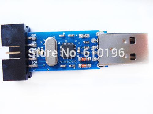 10PCS/LOT USBASP USBISP AVR Programmer USB ATMEGA8 ATMEGA128 Support Win7 64K With Overcurrent protection(China (Mainland))