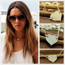 Sale! Tiny Heart Necklace Fancy Letter necklaces for women Wholesale Jewelry 316l Titanium steel(China (Mainland))