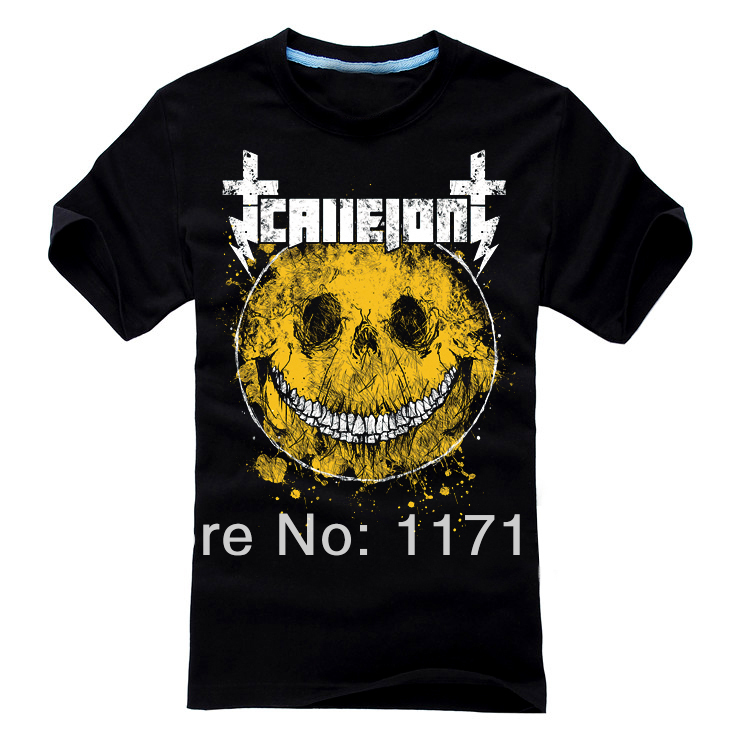 Free shipping Callejon Rapid virus die hard core metal punk T-shirt(China (Mainland))