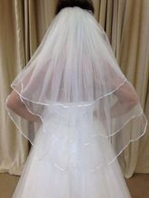 New 2014 Short bride wedding veil three layers tulle bridal veil comb White Ivory wedding accessories veu de noiva(China (Mainland))