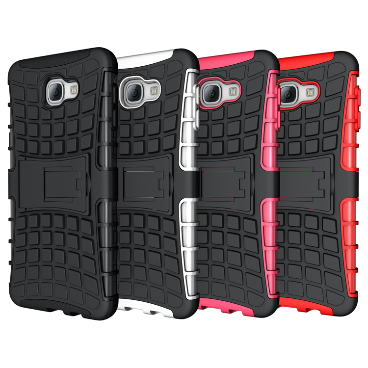 Heavy Duty Rugged Armor Cell Phone Defender Hybrid Case For Samsung Galaxy A3 A5 A7 A8 A9 Skin Cover With Kickstand Shockproof(China (Mainland))
