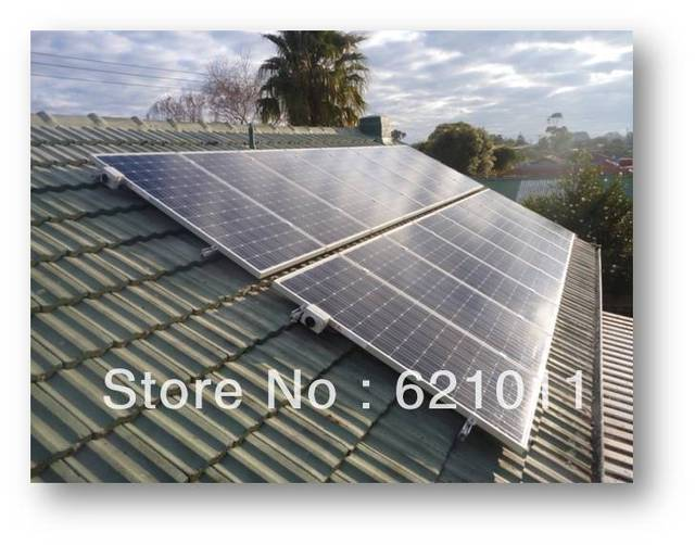 Economic home solar system, 2kw off grid home solar system, generate about 8000WH electricity everyday, home solar generator
