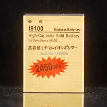 1 шт. 2450 мАч замена EB-F1A2GBU золото аккумулятор для Samsung i9100 GALAXY SII s2, Высокая емкость, Гарантия