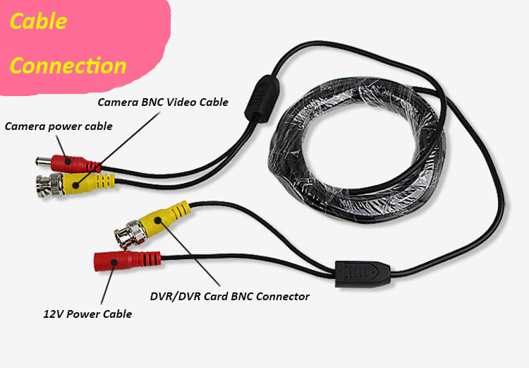 Гаджет  10m CCTV Cable video+power BNC+DC 30FT CCTV Camera Cable DVR Cable BNC Coaxial Cable security installations CCTV Accessory None Безопасность и защита