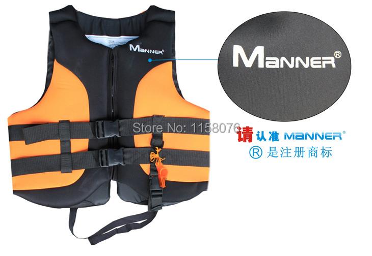 Manner luxury adult lifejacket / orange L code / buoyancy clothing / rafting clothing / inflatables necessary(China (Mainland))