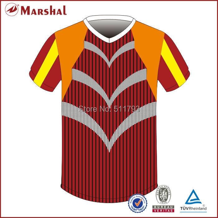 2015 Latest football jersey designs wholesale football jersey free shipping subliamtion soccer uniform(China (Mainland))