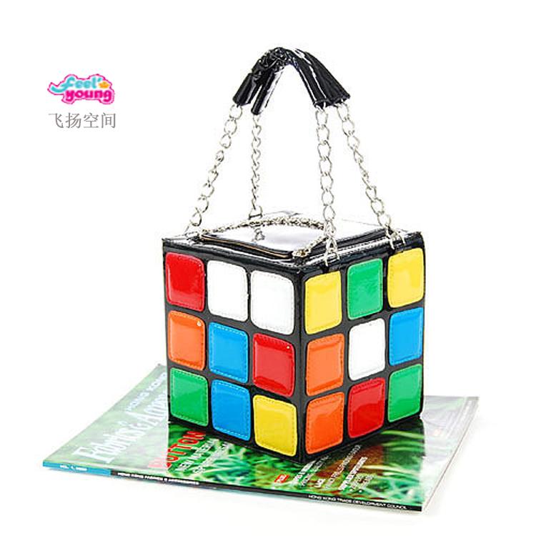 Superior 2014 New Women's Hot Cute Magic Cube Bag Handbag Purse Korean Fashion Handbags shoulder bags(China (Mainland))