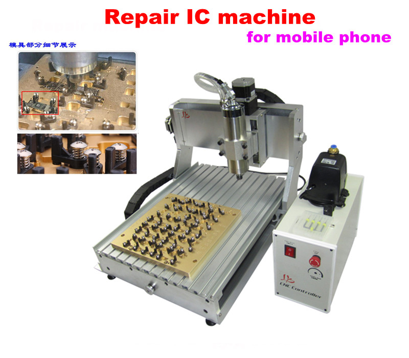 Iphone IC router cnc machine 3040 + 10 in 1 mould, IC remove cnc miling machine for iphone motherboard repair, No tax to Russia!(China (Mainland))