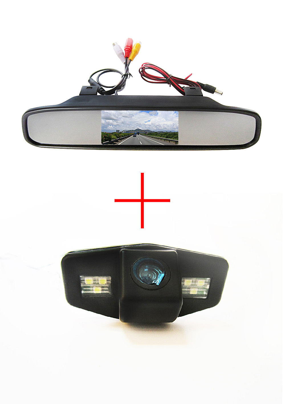 Color Car Rear View Camera For Honda Accord Pilot Civic Odyssey Acura Tsx With 4 3inch Rear View
