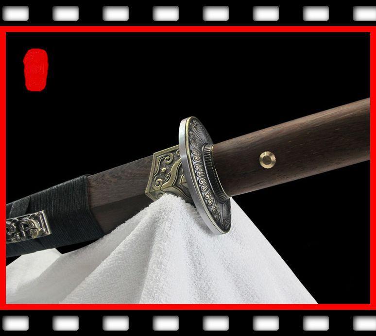 High manganese Steel Chinese jian Han Dynasty Battle sword Pear wood saya(China (Mainland))