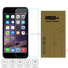0.3mm 9H tempered glass For iPhone 7 6 6 Plus screen protector protective guard film front case cover +clean kits For Watch