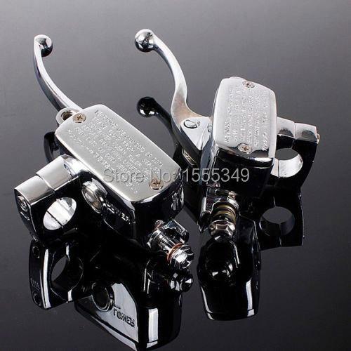 """Здесь можно купить  2x Universal Motorcycle Handlebar Brake Clutch Master Cylinder For 7/8""""22mm CB1300 VFR800 CB1000 CB1100 VF1100 Chrome  Автомобили и Мотоциклы"""
