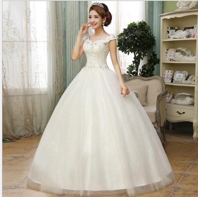 Top Luxury Wedding Dress : New top rhinestone lace wedding dress elegant