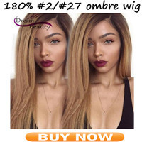 Ombre Full Lace Human Hair Wigs For Black Women 180% Brazilian Kinky Curly Front Lace Wigs Middle Part Glueless Full Lace Wigs