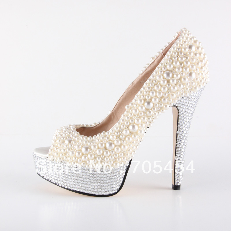 Ivory Flats With Pearls Ivory Pearls Wedding Shoes