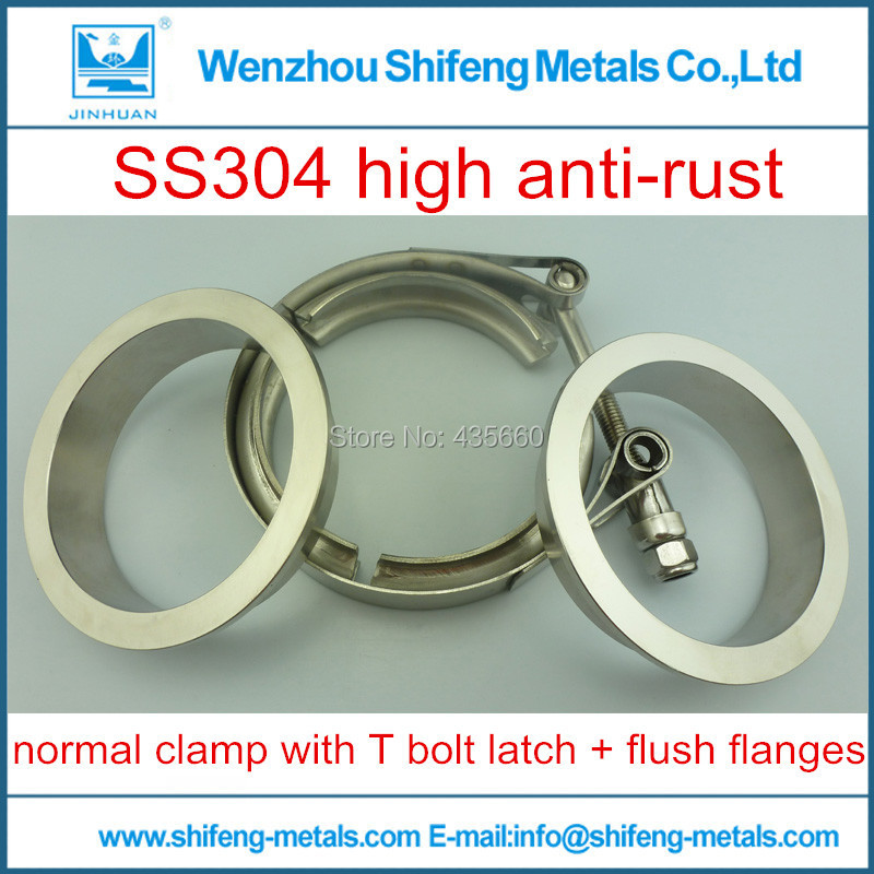 """3"""" V-Band clamp flange Kit (Stainless Steel 304 Clamp+SUS304 Flange) For turbo exhaust downpipe(China (Mainland))"""