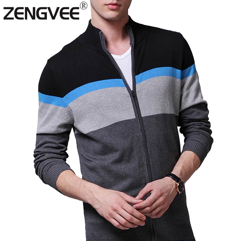 NEW Warm Thick Mens Cardigans Sweaters Men Winter&Spring Cardigan Tops Stand Collar Men Slim Casual dress Knitwear-Free Shipping(China (Mainland))