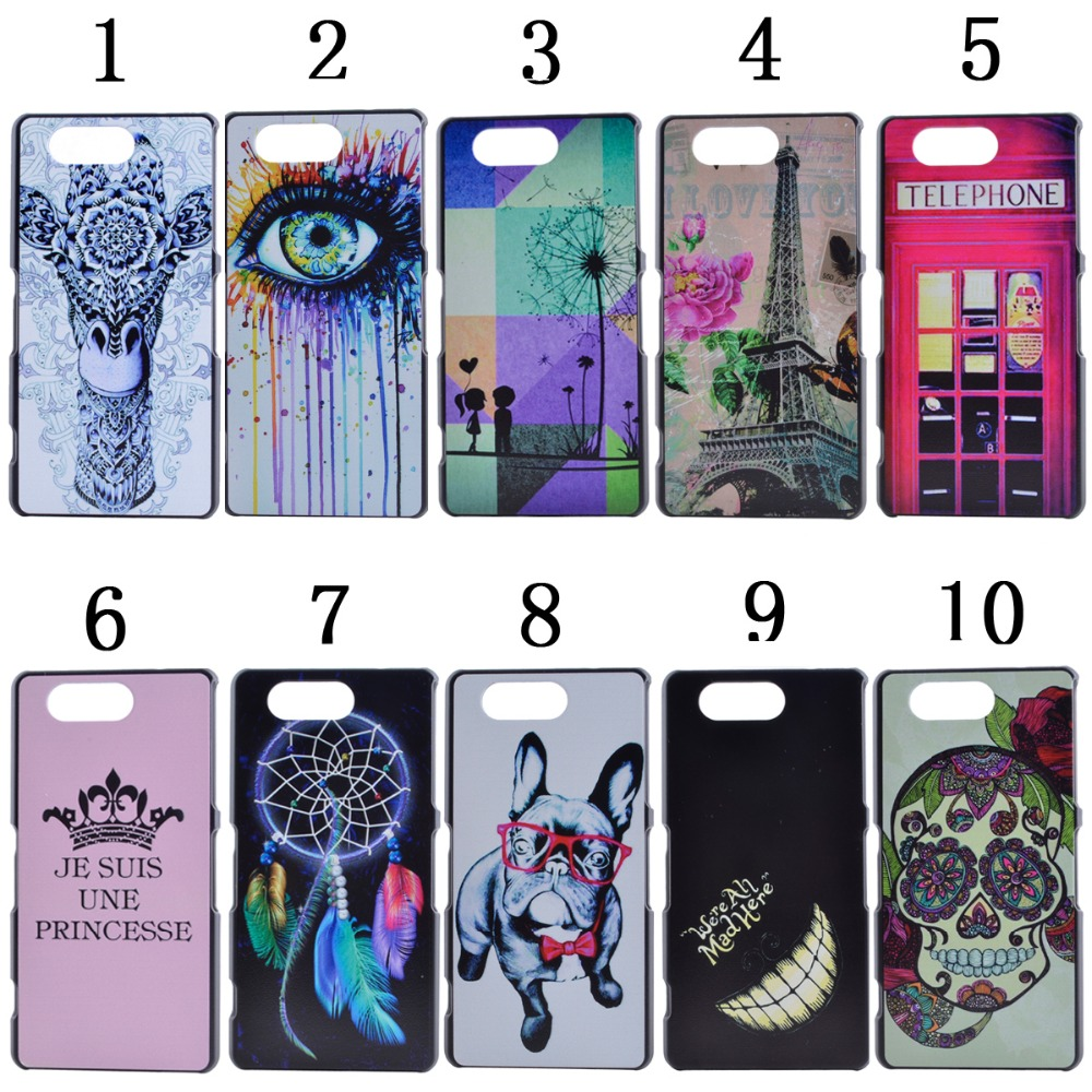 Hot Stylish Girl Fashion Trendy Cartoon Animal Plastic Case for Sony Xperia M2 M4 Z3 Mini Z4 Z5 Mini C5(China (Mainland))