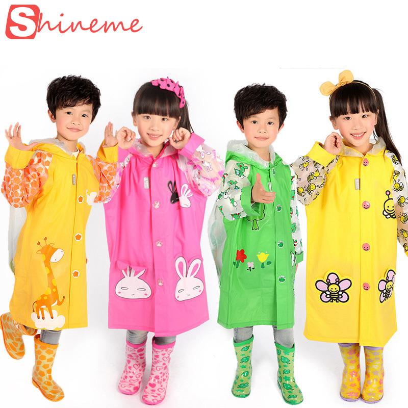High quality safe kids baby raincoat yellow put bag boys girls bicycle rainwear children rain jacket poncho rain-proof pants(China (Mainland))
