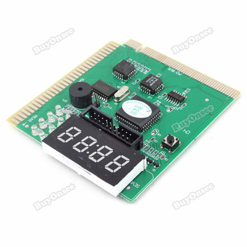 happyshop Lovely! 4 Digit PCI ISA Tester PC Post Card w External Display Quality!(China (Mainland))