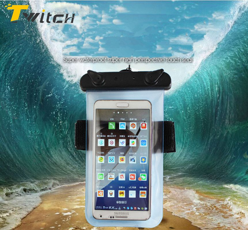 Universal Waterproof Case Mobile Phone Bags with Strap Dry Pouch Case Cover for iPhone 5s 5 6 6S Samsung galaxy S6 Swimming Case(China (Mainland))