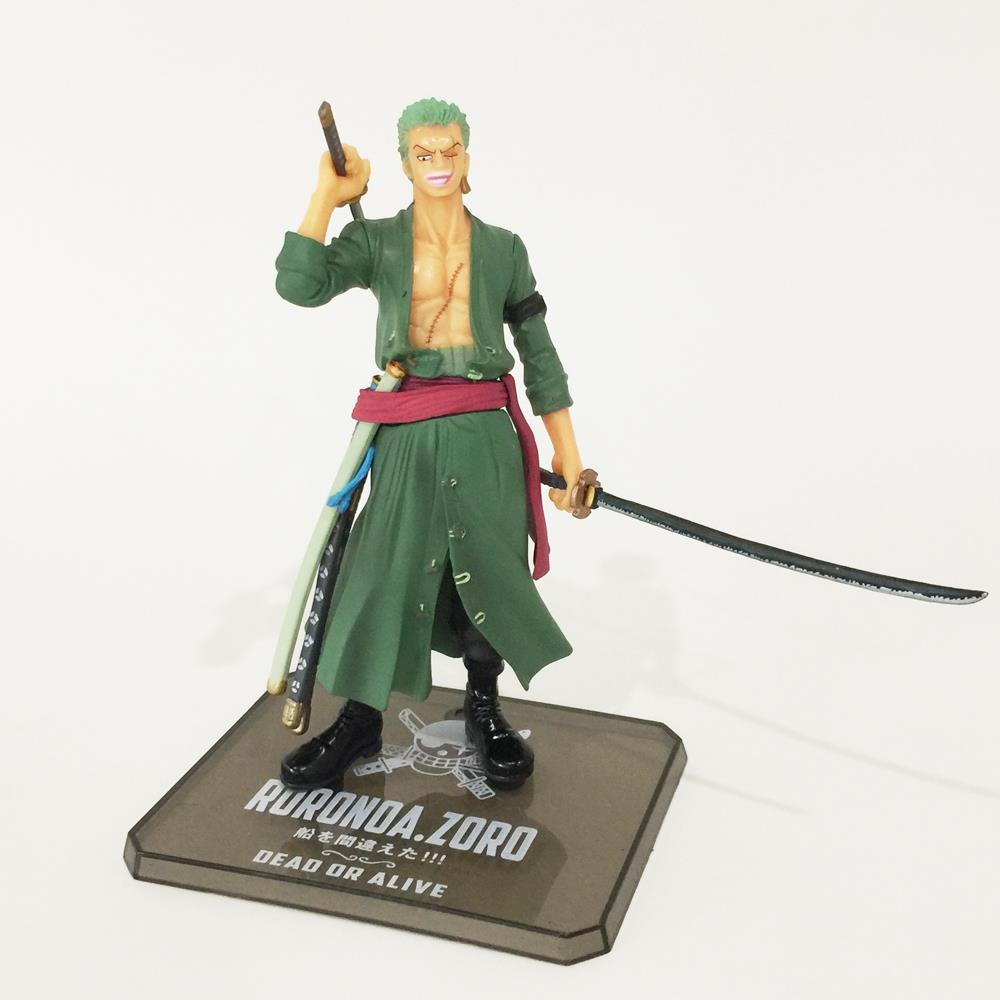 anime one piece Roronoa Zoro action figure toys 15cm(6.3) PVC doll no original box free shipping <br><br>Aliexpress
