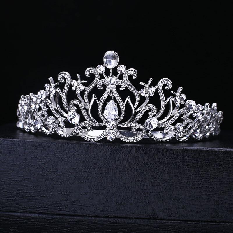 تيجان ملكية  امبراطورية فاخرة Wedding-Bridal-Bridesmaid-Flower-Girls-crystal-tiara-font-b-crown-b-font-Hairwear