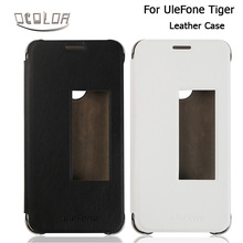 UleFone Tiger PU Leather Case With View Window Original Flip Cover In 2 Colors for UleFone Tiger Mobile Phone Accessories(China (Mainland))