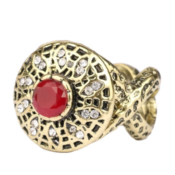 OUR L Y Italy Jewelry For Women Exaggerated Personality Punk Tibet Crystal Retro Vintage Ring Victoria Wieck Wedding