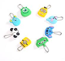 High quality free shipping Kawaii Cartoon Animal Silicone Key Caps Covers Keys Keychain Case Shell Novelty Item KCS