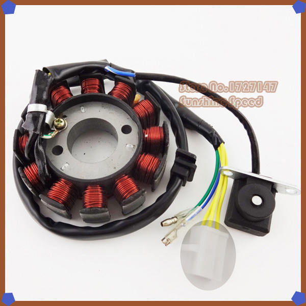 12 poles Coil Ignition Stator Magneto For GY6 125cc 150cc Moped Scooter Quad ATV Go Kart(China (Mainland))