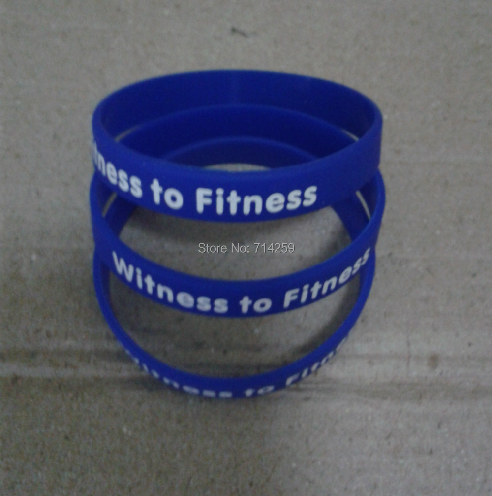 100pcs customized 2color print texts & logo rubber sport wristbands P1405204 silicone bracelet for events & promotion gift(China (Mainland))