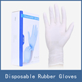 100pcs box 50pairs Newest White Blue Black Safety Protective Medical One Time Disposable Rubber Work Gloves