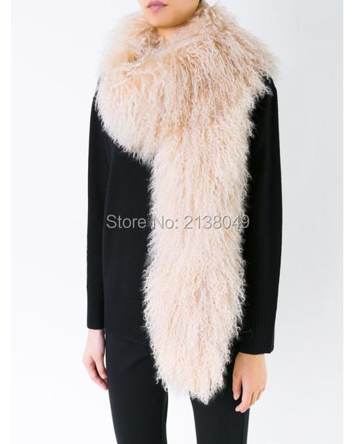 FS039 150*16 см Моды Украл Lady Winter Big Шарф Горячие Продажи Завода, Поставка Натурального Меха Шарф