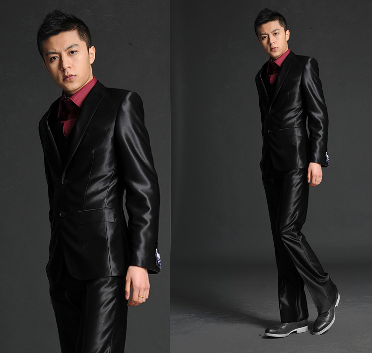 Autumn Thin Wedding Suit Male Slim Wedding Dress Fashion Male Loading Of The Groom Set Free