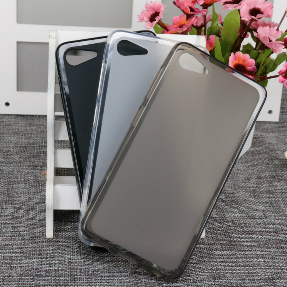 2016 Hot Fashion Matte Case For Lenovo ZUK Z2 Soft TPU Case Half Of Transparent Back Cover For ZUK Z2(China (Mainland))