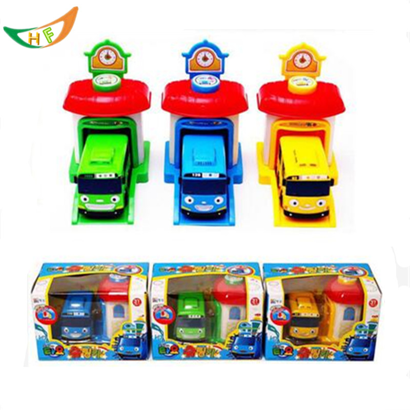 One piece Korean Cute Cartoons garage tayo the little bus model mini tayo plastic baby araba oyuncak car for kids Christmas gift(China (Mainland))