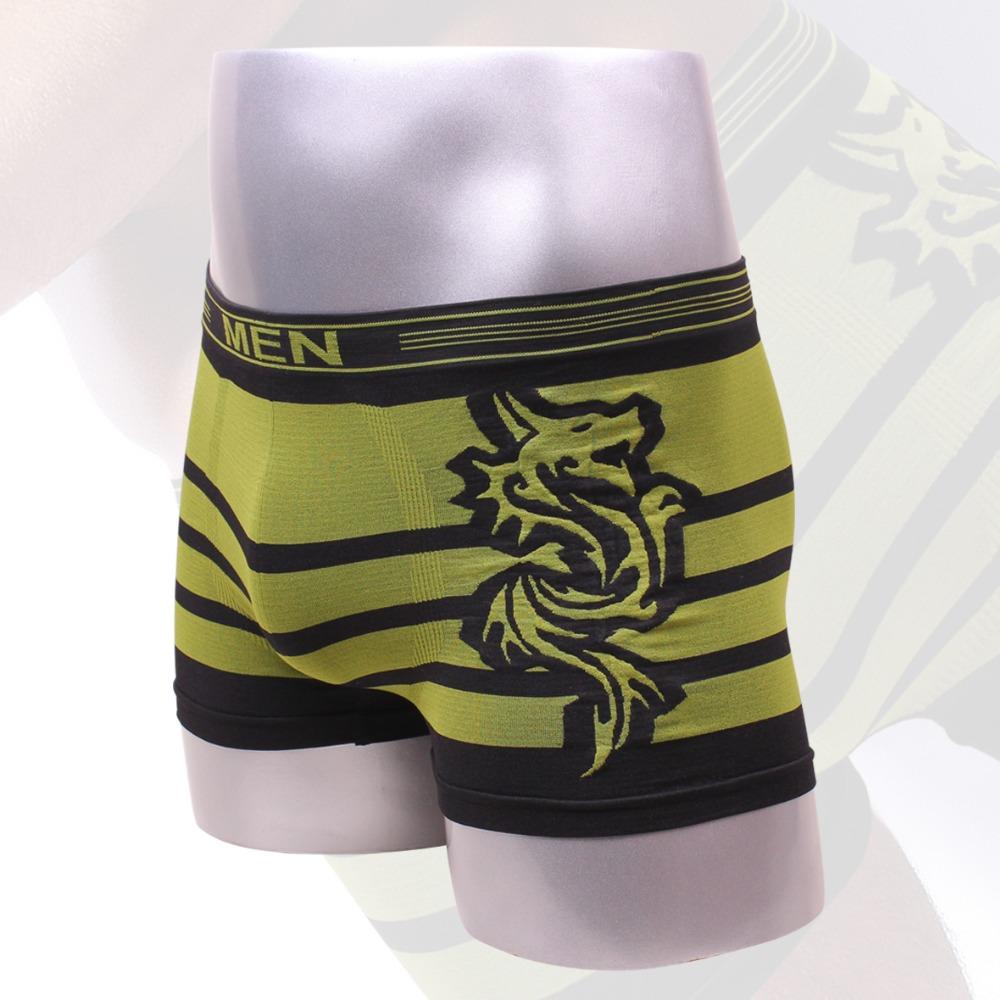 New Hot Men boxing Underwear Flat Solid Boxer Underwear Men Flat Classic Dragon of Texture Spandex Underwear Men Flat(China (Mainland))