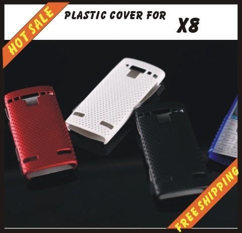 Free shipping --New high quality more colours plastic cover case mobile phone cellphone for SONY Ericsson X8