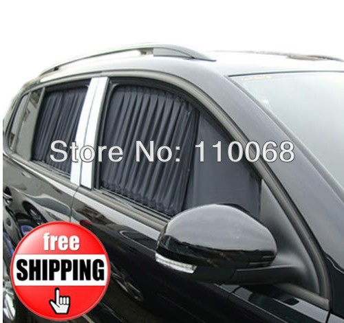 1 Pair 50L Auto Curtain 19.89 x 20.7 inch Car Window Sunshade(China (Mainland))