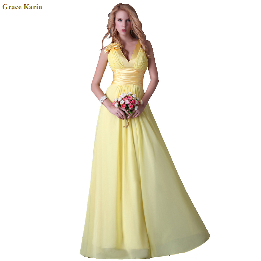 Best Selling Sleeveless Wedding Guest Party dress Flower Long Chiffon Prom Evening dresses Yellow Formal Celebrity Gowns 3462(China (Mainland))